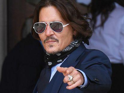 Johnny Depp, en el Tribunal Superior de Justicia de Londres, en julio.