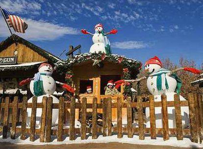 Port Aventura con ambientación navideña.