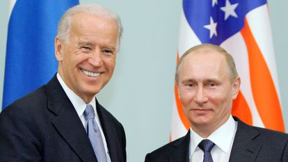 Putin y Biden en Moscú en 2011.