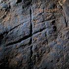 Grabado neandertal descubierto en el fondo de la cueva de Gorham (Gibraltar).