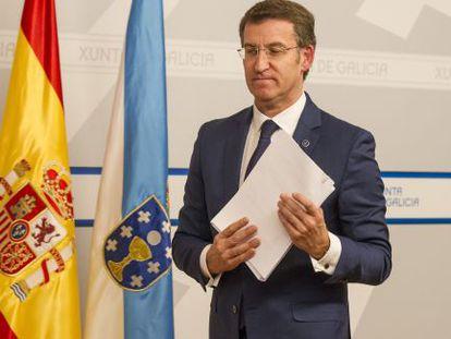 Feijóo, tras el primer Consello de la Xunta de 2015