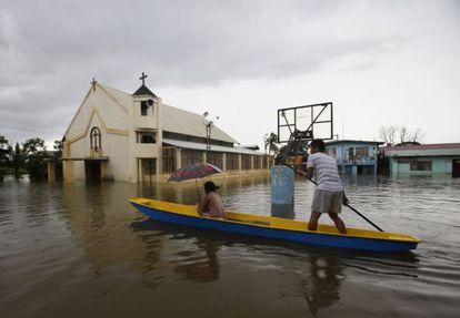 Los efectos de las inundaciones en Bulacán, al norte de Manila.