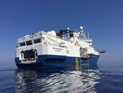 El 'Geo Barents' durante su primera misión en el Mediterráneo.