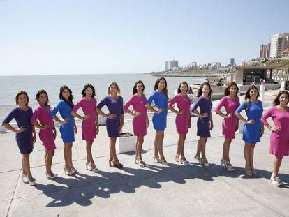 Las doce finalistas de 2016 a Reina Nacional del Mar.