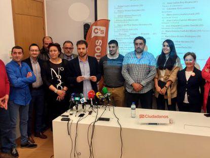 Miembros de la candidatura de Ouirense vetada por la dirección