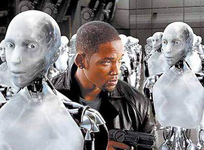Un fotograma de la película <i>Yo robot</i>.