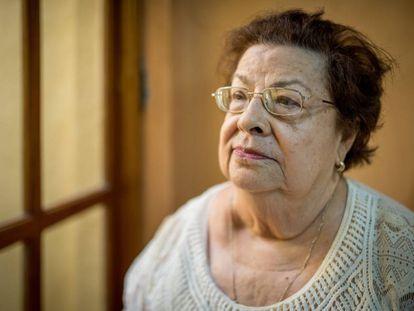 Vilma Núñez en su oficina del CENIDH.