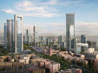 Recreación del futuro Madrid Nuevo Norte.