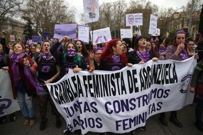 Manifestación del 8-M celebrada este año en Madrid.
