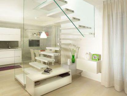 Escalera de vidrio de la firma Marretti