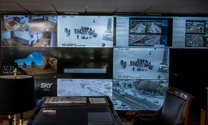 la oficina desde donde Omar García Harfuch observa y monitorea la Ciudad de México.