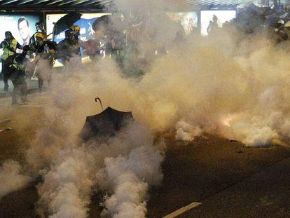 Protestas en Hong Kong el 21 de julio de 2019.
