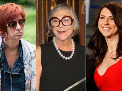Sandra Ortega, Alice Walton y MacKenzie Bezos.