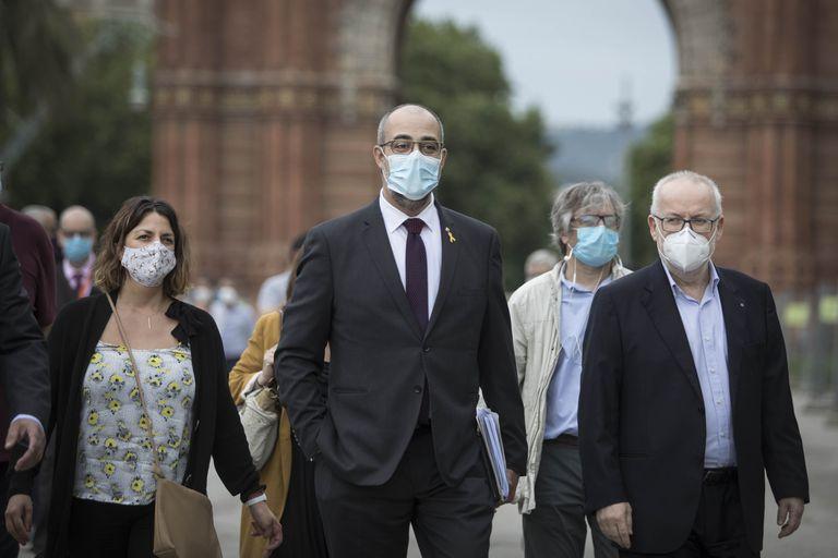 Miquel Buch llega al Tribunal Superior de Justicia de Cataluña.