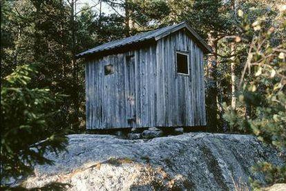 Cabaña del dramaturgo August Strindberg en la isla Kymmendo, del archipiélago sueco de Haninge.