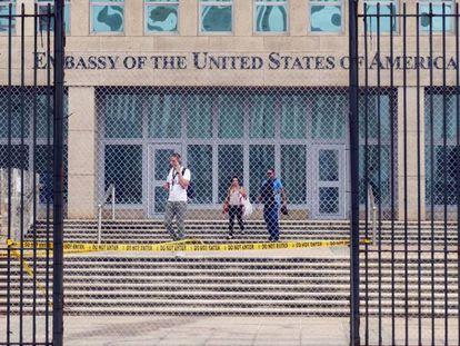 La Embajada de Estados Unidos en La Habana, Cuba, en 2017.
