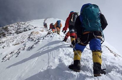 Ascensión a la cima del Everest, en 2018.