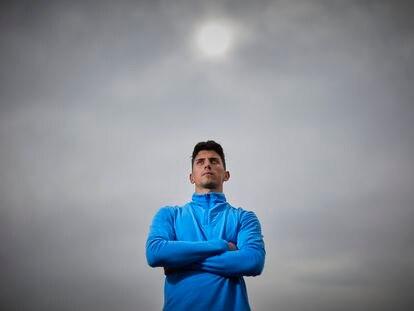 Dani Rodríguez, velocista campeón de España 2021 en 60 y 200 en pista cubierta, una semana antes de acudir al Europeo de Torun.