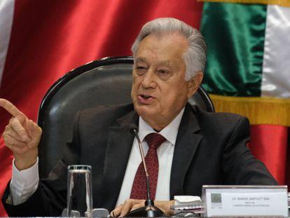 Manuel Bartlett, director de la Comisión Federal de Electricidad, en diciembre de 2019.