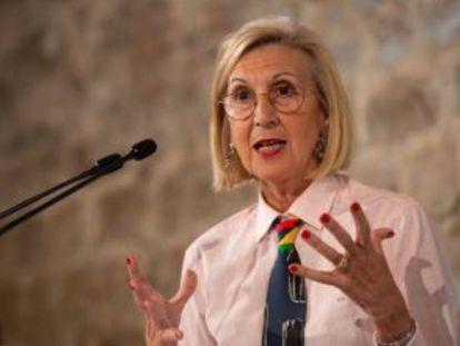 Rosa Díez en un acto del PP el pasado noviembre.