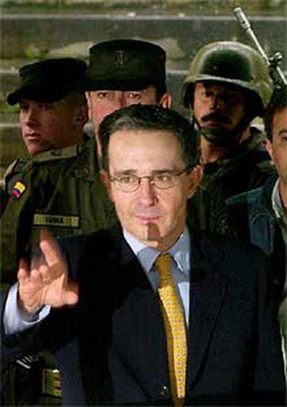 Uribe en Bogotá, durante las elecciones presidenciales de mayo.