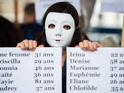 Al menos 146 mujeres murieron en Francia en 2019 víctimas de la violencia machista