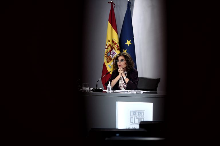 The Spokesperson and Minister of Finance, María Jesús Montero, this Tuesday.