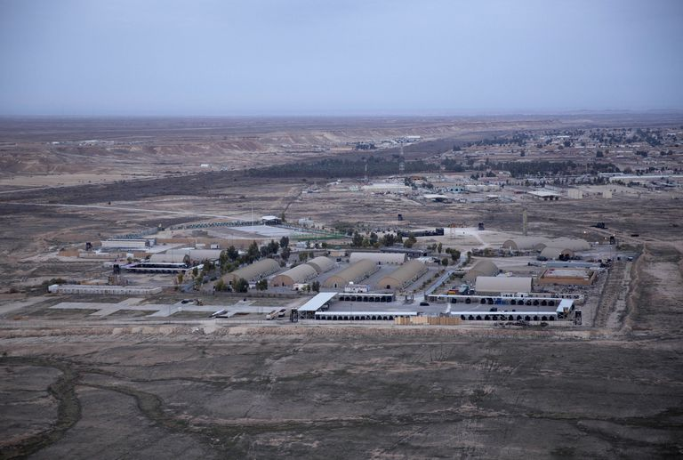 File image of the Ain el Asad air base, attacked by a rocket salvo on Wednesday.