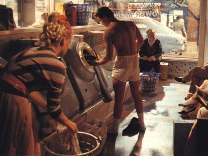 Nick Kamen, en el anuncio de Levi's en 1985.