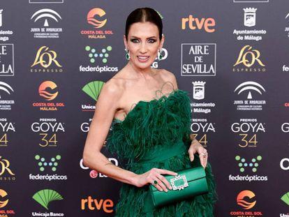 Nieves Álvarez en la última gala de los Premios Goya celebrada en Málaga.