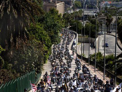 Concentración de motocicletas celebrada en Barcelona.