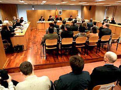 Una de las sesiones del juicio celebradas contra 14 miembros de la iglesia de la Cienciología.