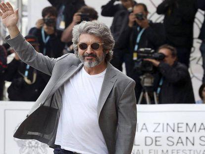 Ricardo Darín, a su llegada hoy al festival de San Sebastián.