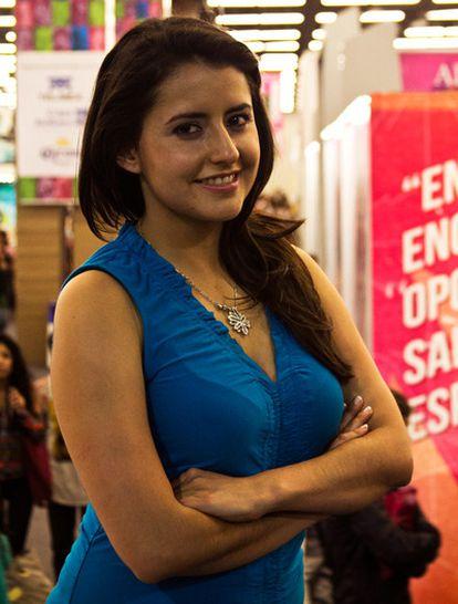La autora del libro 'Pequeño cerdo capitalista', en la Feria Internacional del Libro de Guadalajara.
