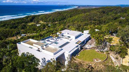 Vista aérea de la casa de Chris Hemsworth y Elsa Pataky en Byron Bay, Australia.