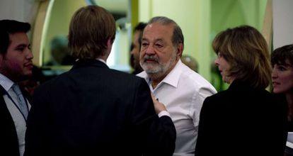 Slim, en la Comisión para el Desarrollo Digital en Ciudad de México.