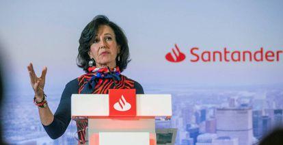 Ana Botín, presidenta de Santander en una imagen de archivo.