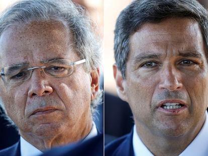 Paulo Guedes, ministro de Economía de Brasil, junto a Roberto Campos Neto, jefe del Banco Central.