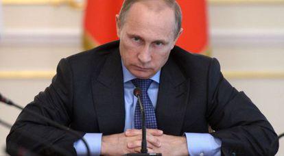 El presidente de Rusia, Vladímir Putin, en su residencia de Moscú.
