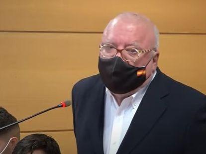José Manuel Villarejo, el 15 de enero de 2021, en el juicio por injurias al CNI, en el que fue absuelto.