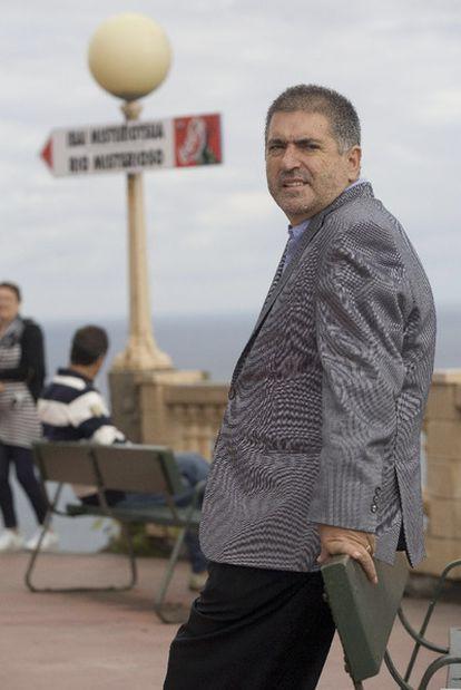 Jesús Eguiguren, tras la entrevista.