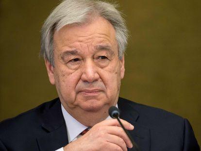 António Guterres, secretario general de la ONU, en una conferencia de prensa el pasado 29 de abril.