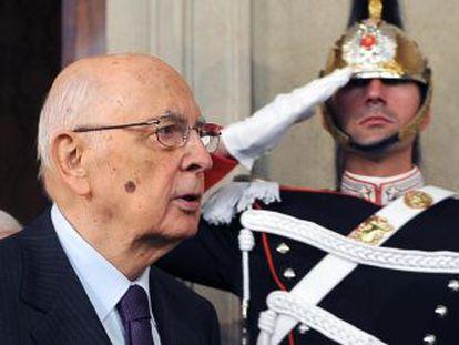 El presidente italiano, Giorgio Napolitano.