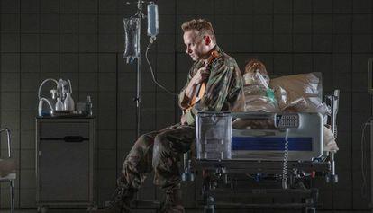 Un momento de la representación de 'Historia de un soldado', en Peralada.