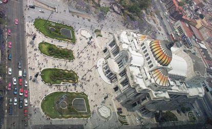 El Palacio de Bellas Artes, a finales de marzo.