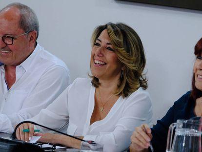 La secretaria general del PSOE andaluz, Susana Díaz, durante la reunión de la Comisión Ejecutiva Regional del partido.