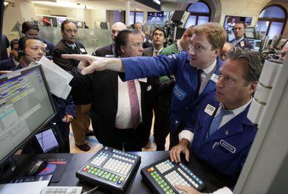 Operadores de la Bolsa de Nueva York