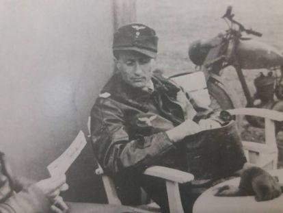 Steinhoff, antes de sufrir el accidente con su reactor.