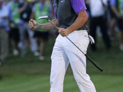 McIlroy celebra su victoria en el PGA.