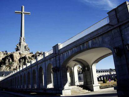 Vista del monumento en el Valle de los Caídos.
